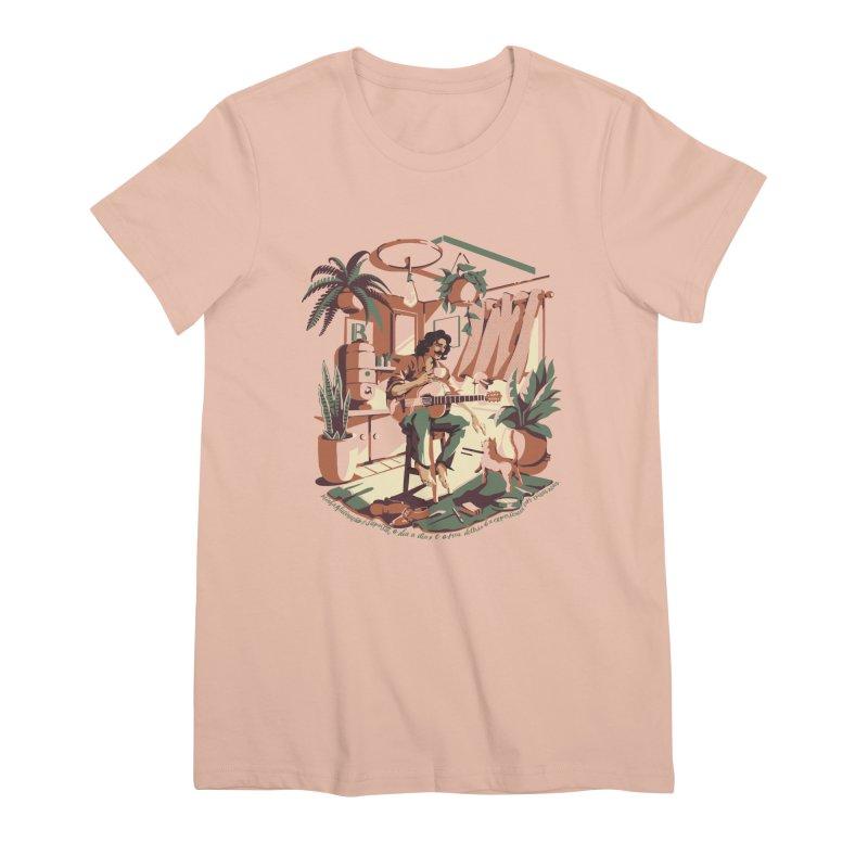 Rapaz latino Americano Women's Premium T-Shirt by ilustrata