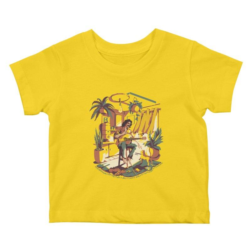 Rapaz latino Americano Kids Baby T-Shirt by ilustrata