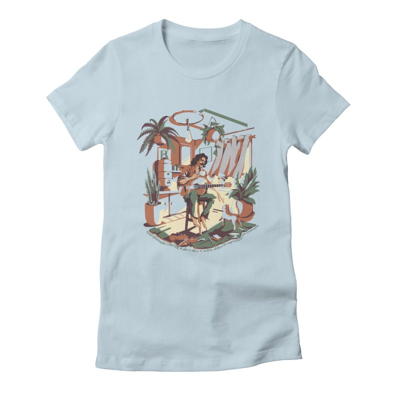 Rapaz latino Americano Women's Fitted T-Shirt by ilustrata