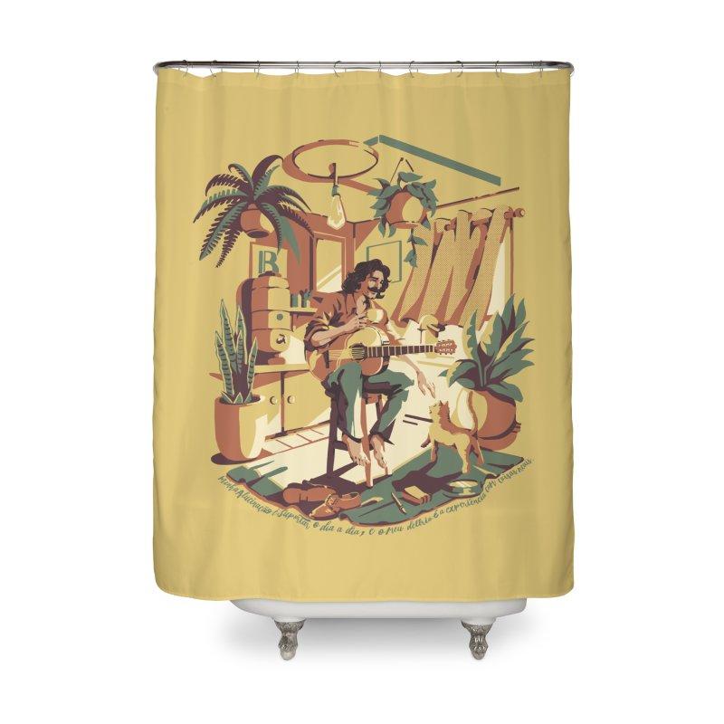 Rapaz latino Americano Home Shower Curtain by ilustrata