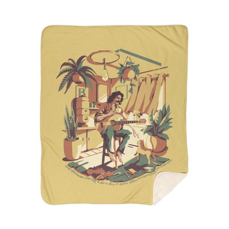 Rapaz latino Americano Home Sherpa Blanket Blanket by ilustrata