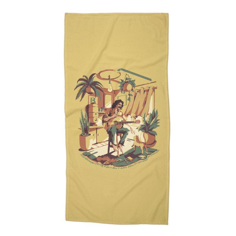 Rapaz latino Americano Accessories Beach Towel by ilustrata