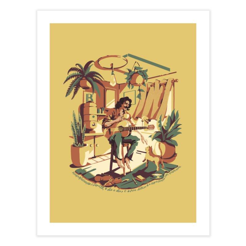 Rapaz latino Americano Home Fine Art Print by ilustrata