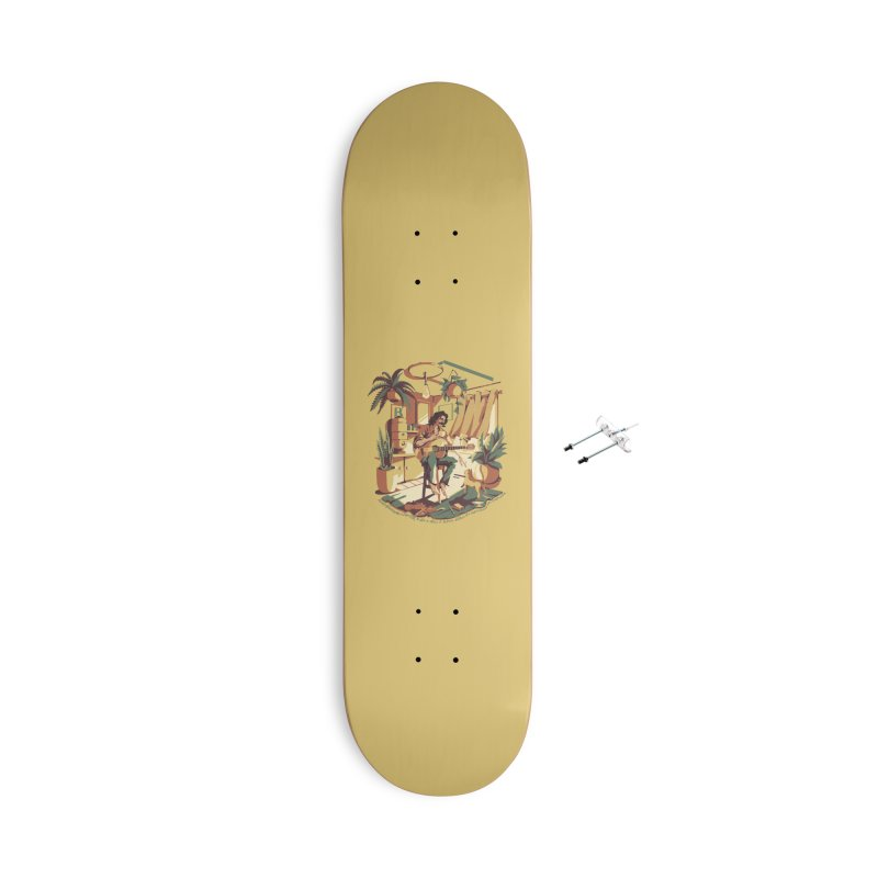 Rapaz latino Americano Accessories With Hanging Hardware Skateboard by ilustrata