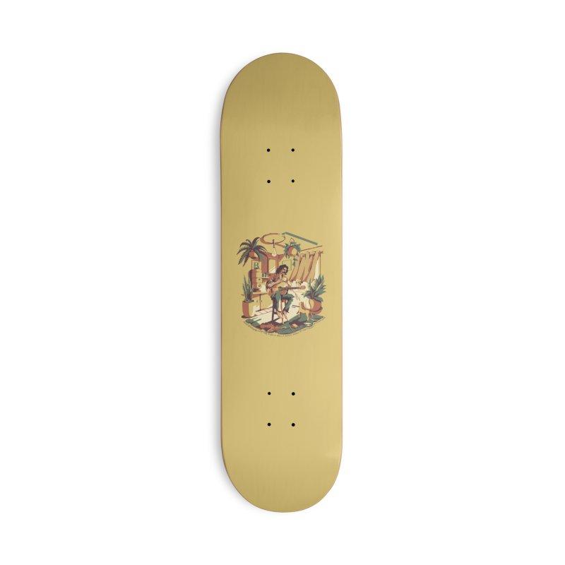 Rapaz latino Americano Accessories Deck Only Skateboard by ilustrata