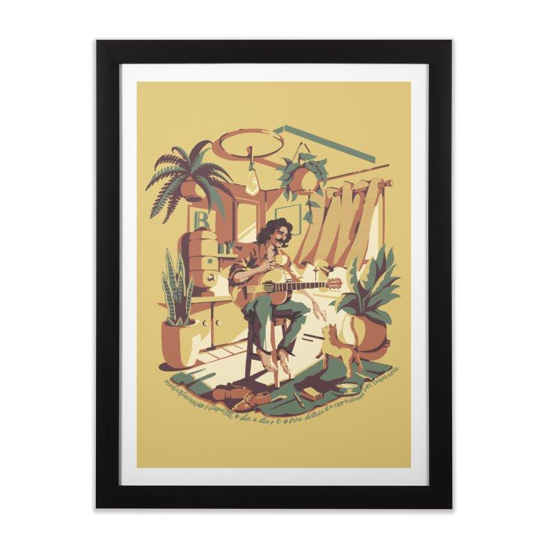 Rapaz latino Americano Home Framed Fine Art Print by ilustrata