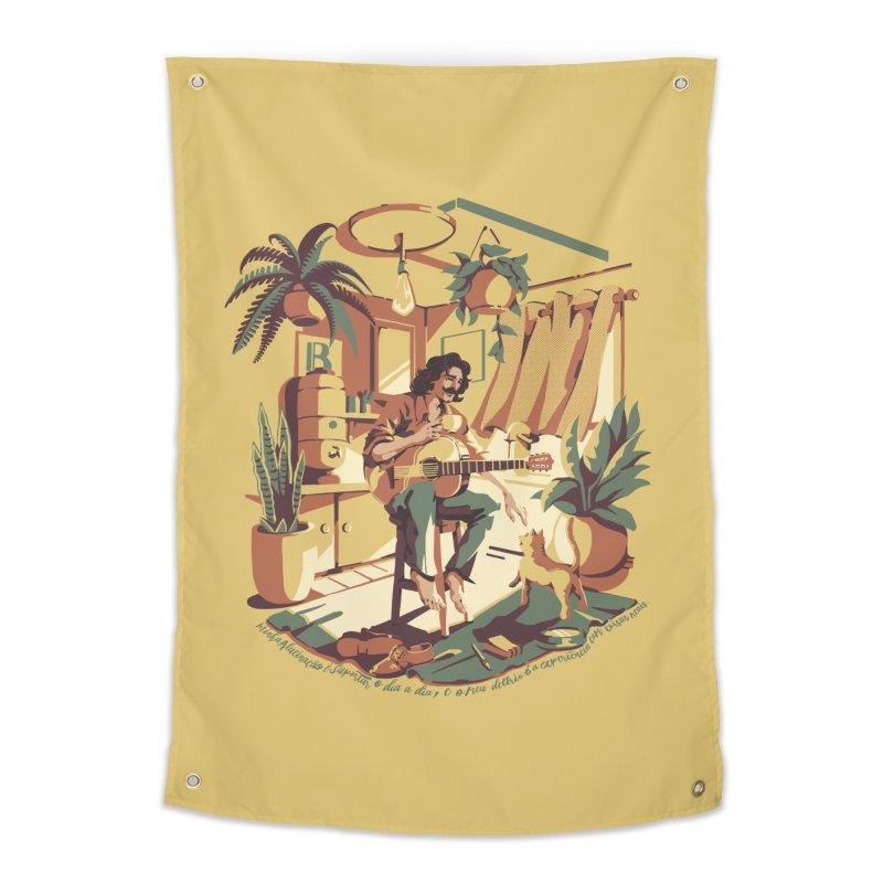 Rapaz latino Americano Home Tapestry by ilustrata