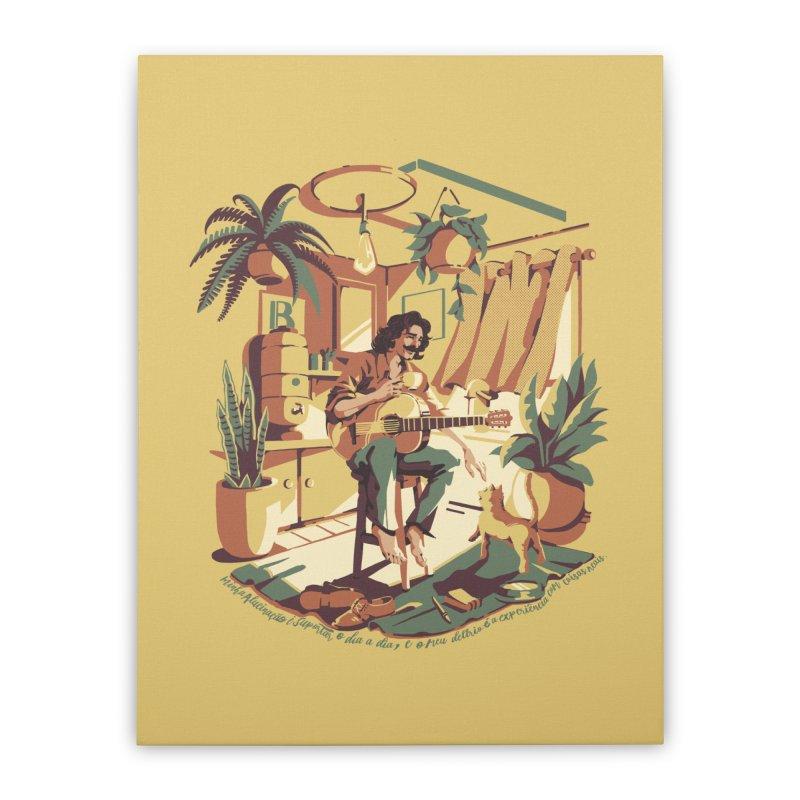 Rapaz latino Americano Home Stretched Canvas by ilustrata