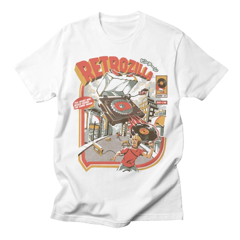 Retro Soundzilla Men's T-Shirt by ilustrata