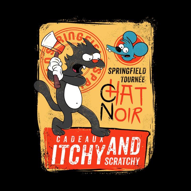Le Chat Noir Men's T-Shirt by ilustrata