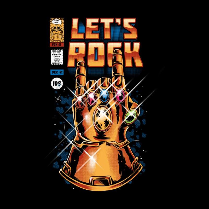 Let's Rock Men's T-Shirt by ilustrata