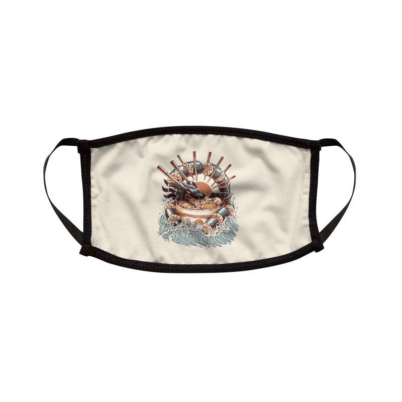 Dragon Sushi Ramen Accessories Face Mask by ilustrata