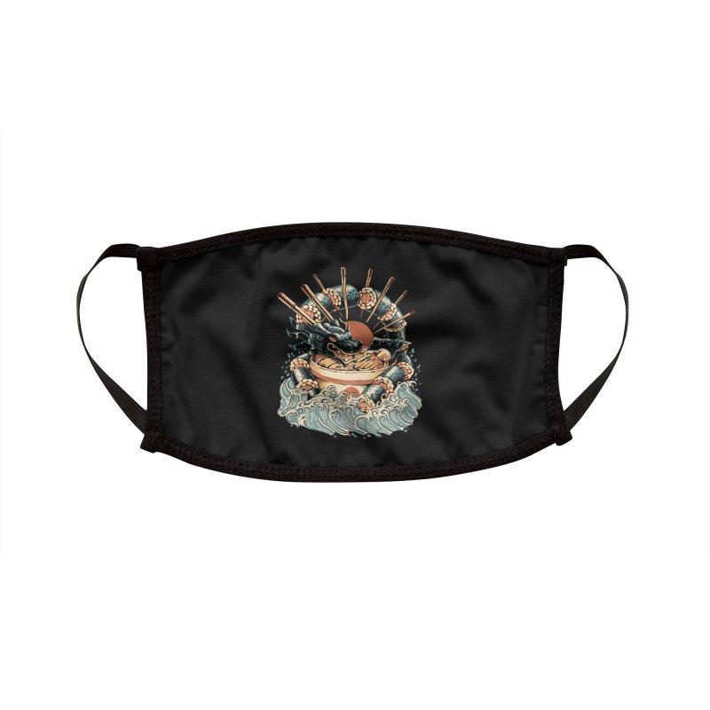 Dragon Sushi Ramen - Black Version Accessories Face Mask by ilustrata