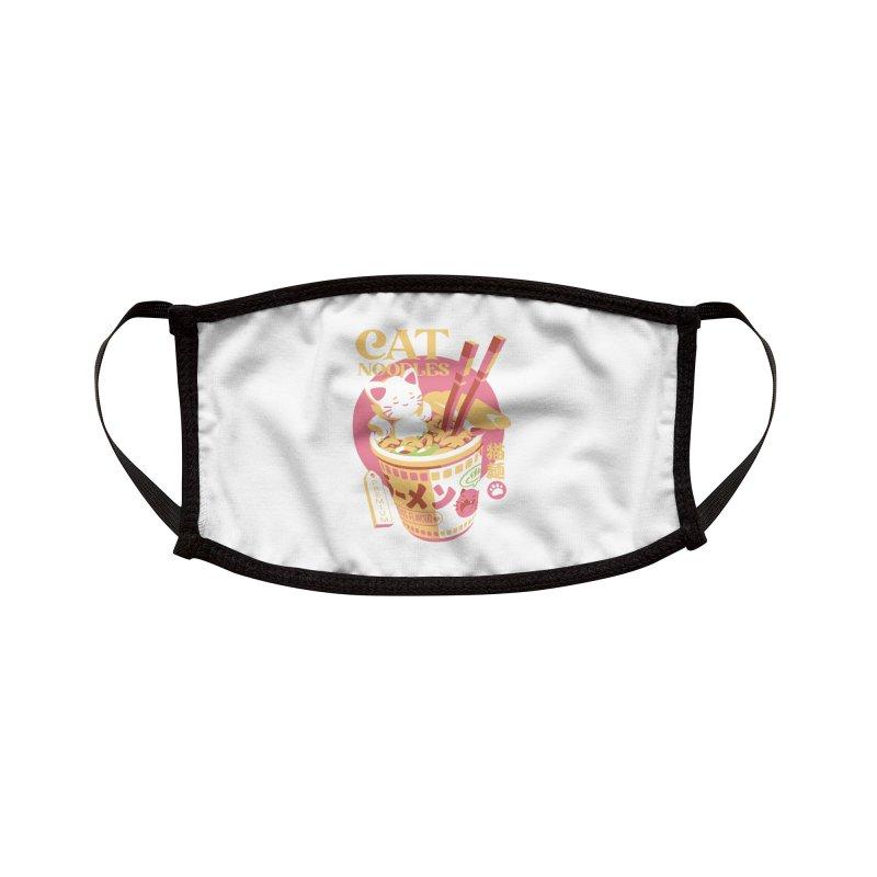 Cat Noodles Accessories Face Mask by ilustrata