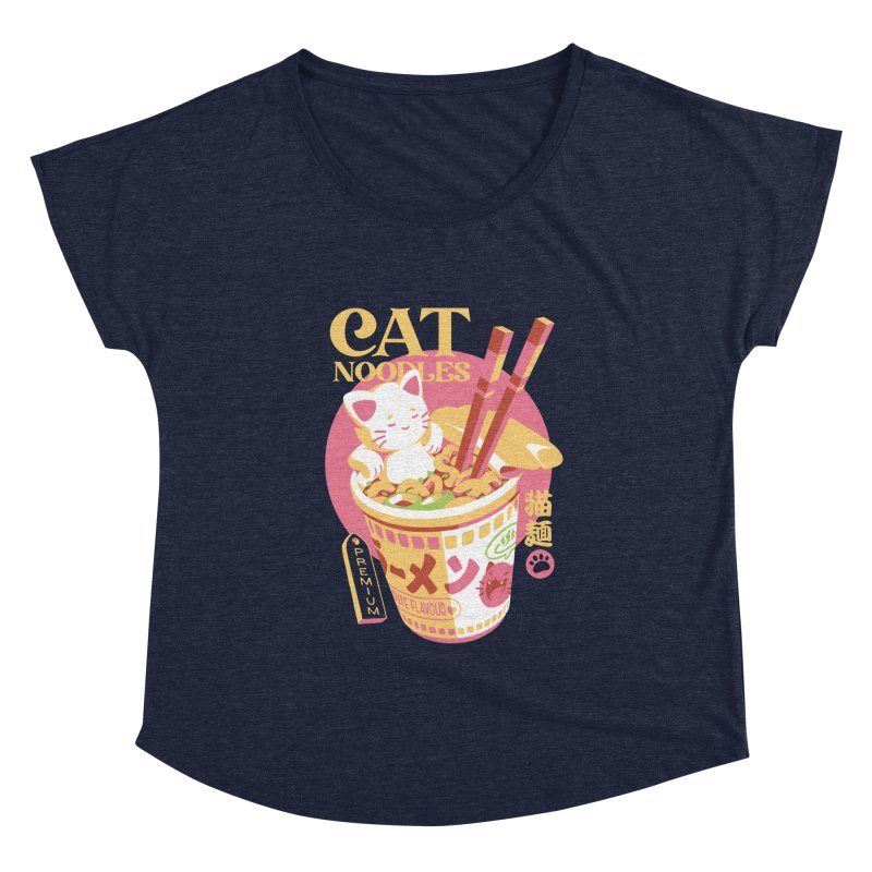Cat Noodles Women's Scoop Neck by ilustrata