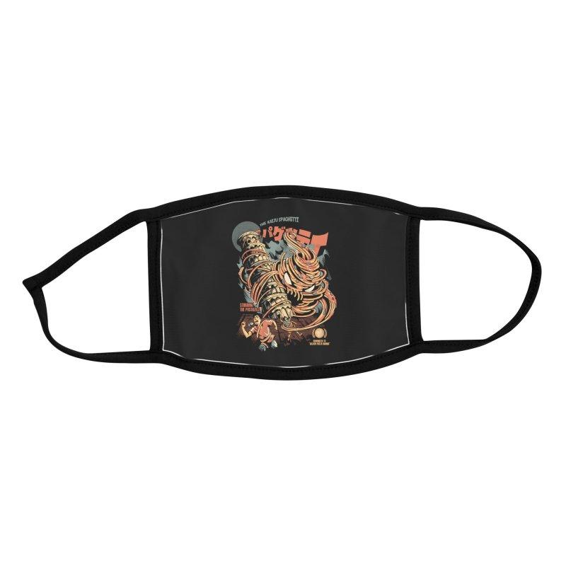 The Kaiju Spaghetti - Black Version Accessories Face Mask by ilustrata
