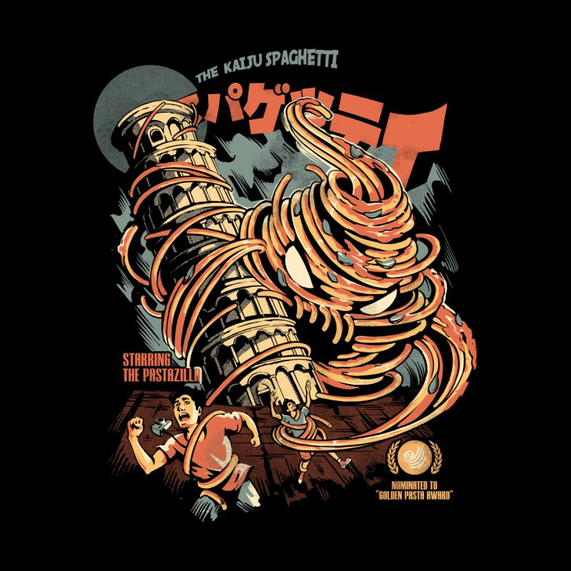The Kaiju Spaghetti - Black Version Men's T-Shirt by ilustrata