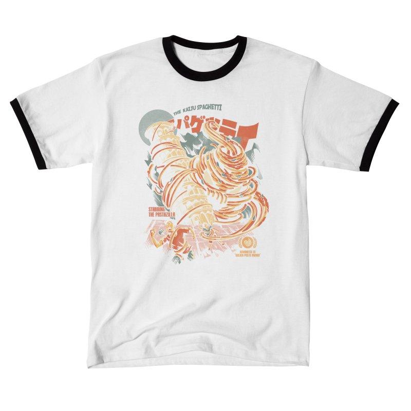 The Kaiju Spaghetti - Black Version Men's T-Shirt by ilustrata