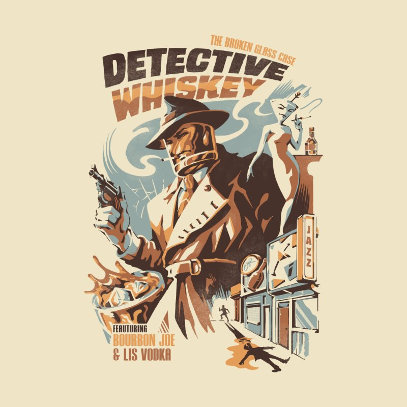 Detective Whiskey Accessories Face Mask by ilustrata