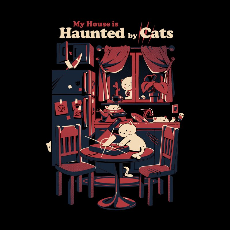 Haunted by cats Men's T-Shirt by ilustrata