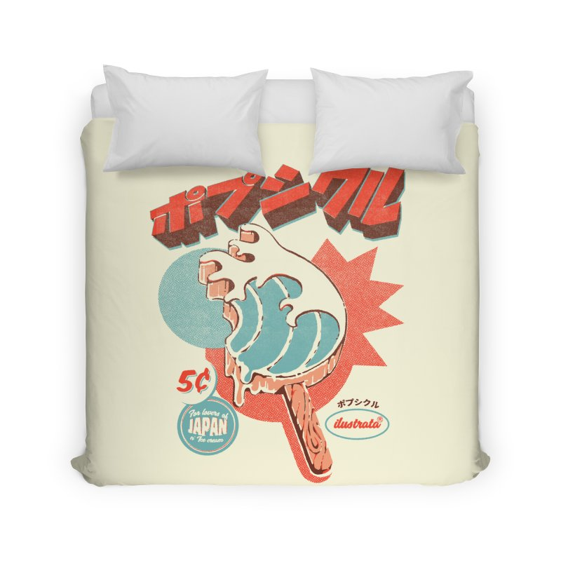 Great Wave Ice Pop Home Duvet by ilustrata