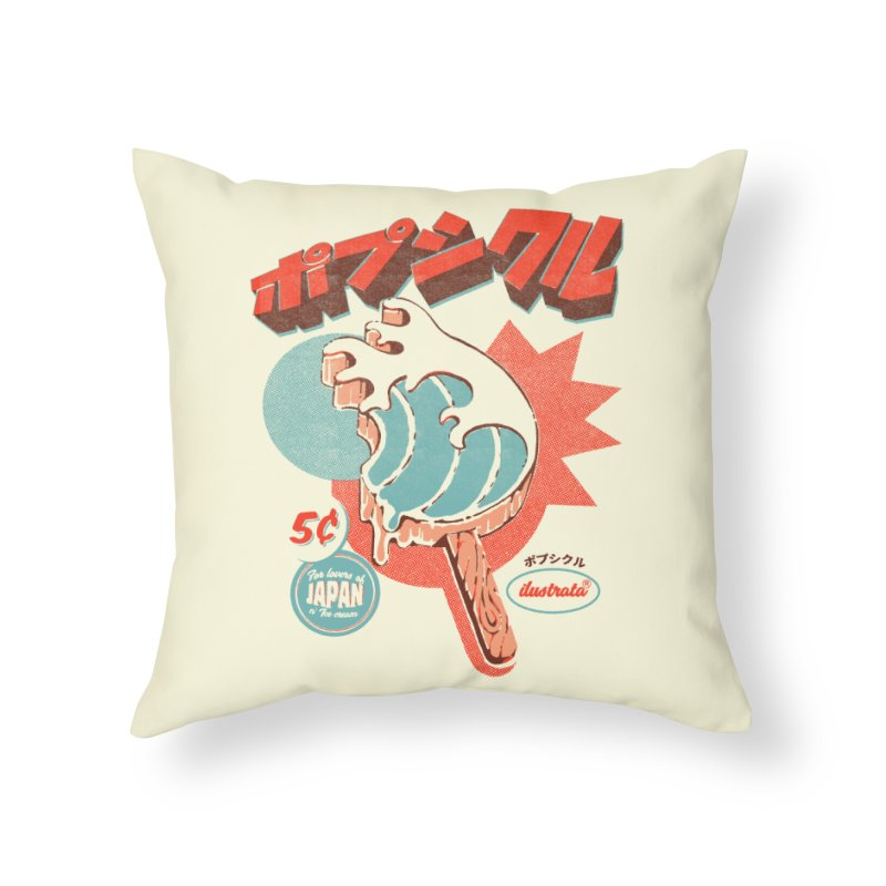 Great Wave Ice Pop Home Throw Pillow by ilustrata