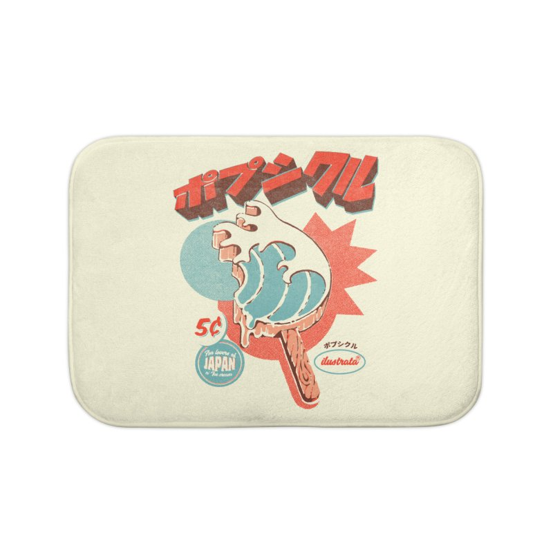 Great Wave Ice Pop Home Bath Mat by ilustrata
