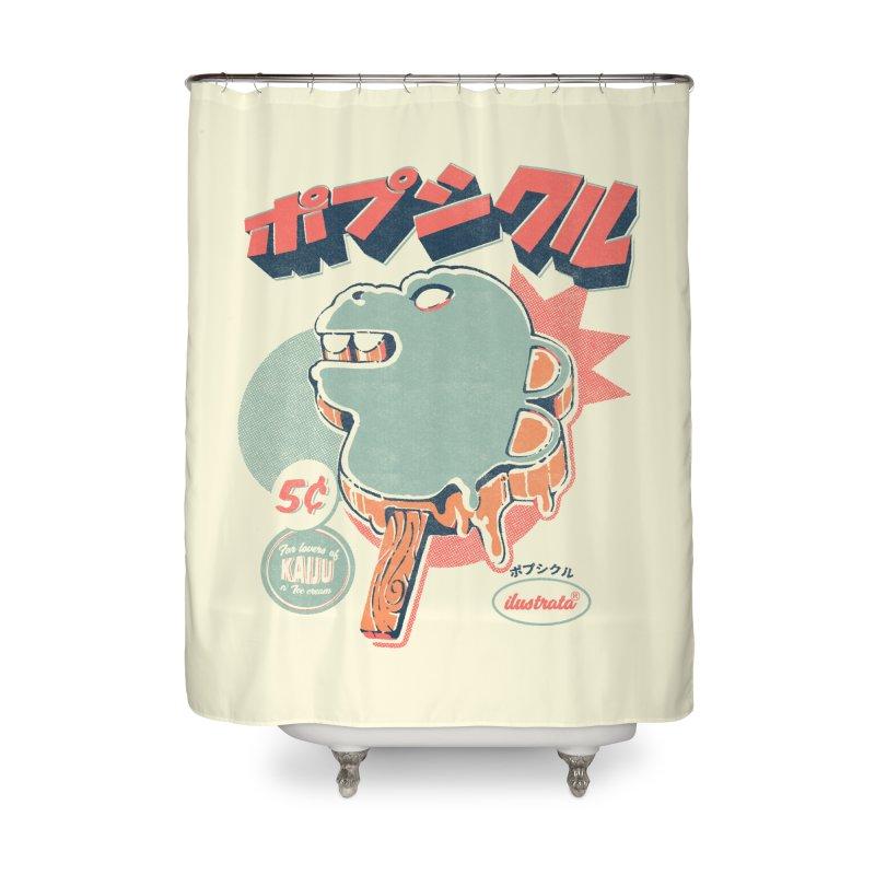 Kaiju Ice pop Home Shower Curtain by ilustrata