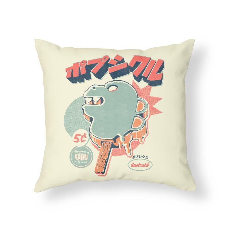 Kaiju Ice pop Home Throw Pillow by ilustrata