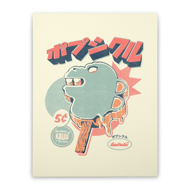 Kaiju Ice pop Home Stretched Canvas by ilustrata