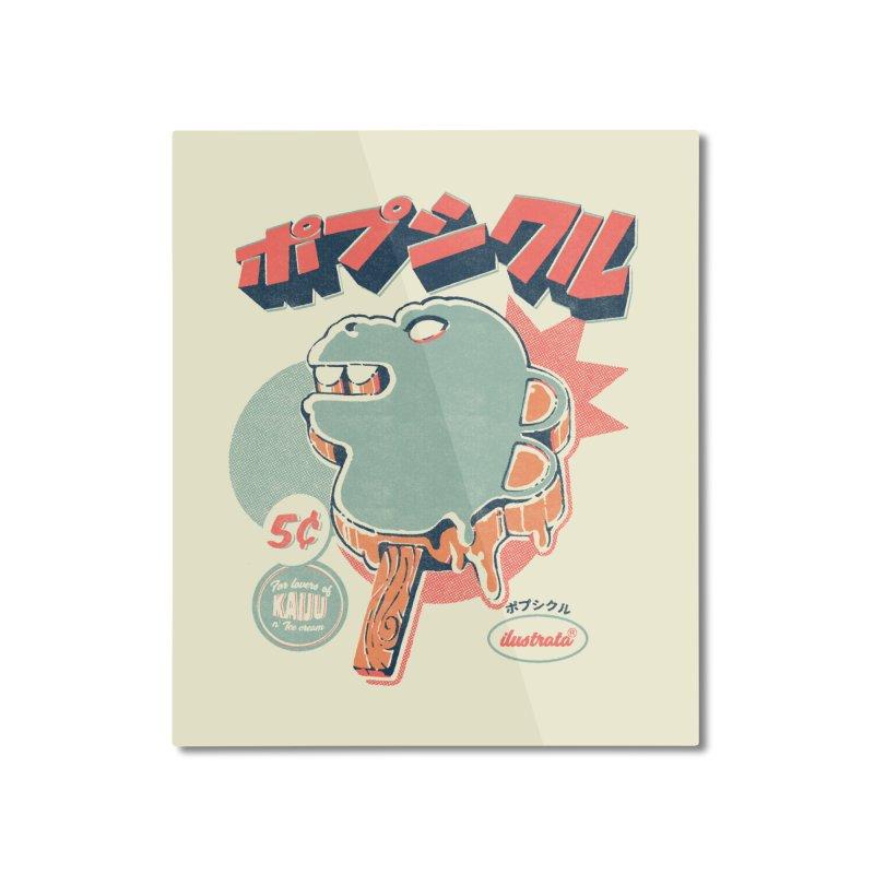 Kaiju Ice pop Home Mounted Aluminum Print by ilustrata