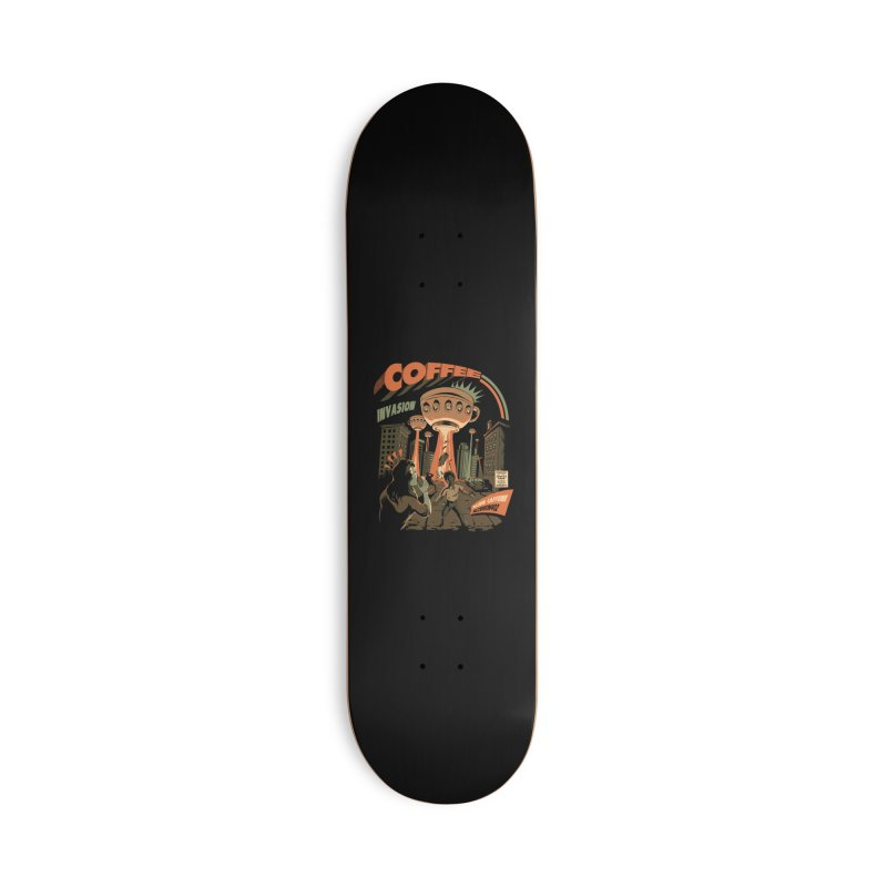 Coffee Invasion Accessories Skateboard by ilustrata