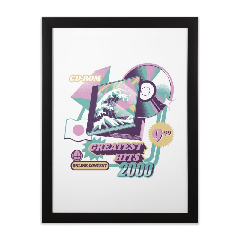 Japanese Greatest Hits Home Framed Fine Art Print by ilustrata