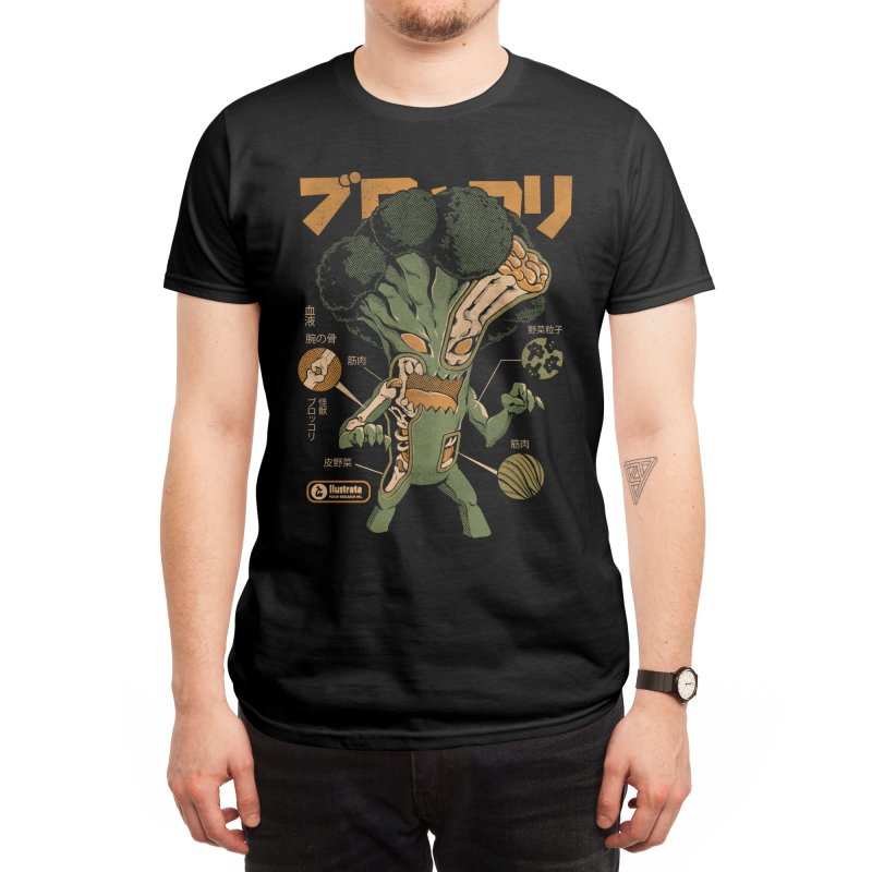 Broccozilla X-ray Men's T-Shirt by ilustrata