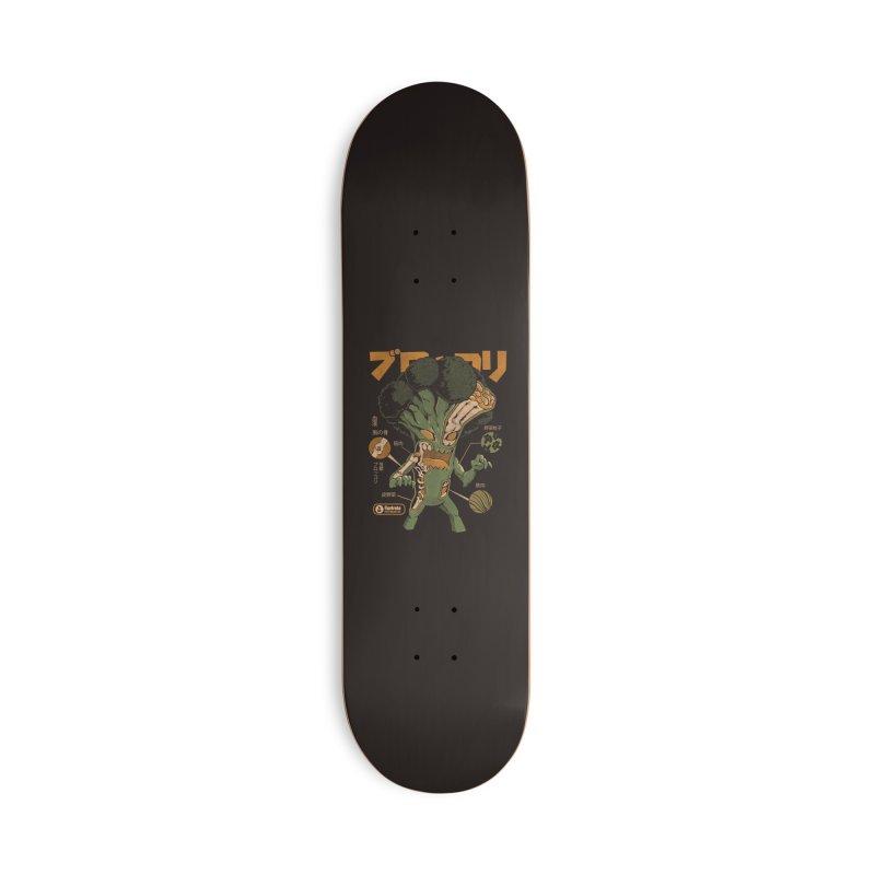 Broccozilla X-ray Accessories Skateboard by ilustrata