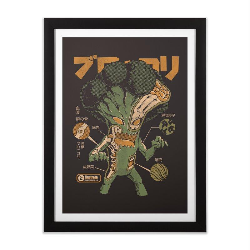 Broccozilla X-ray Home Framed Fine Art Print by ilustrata