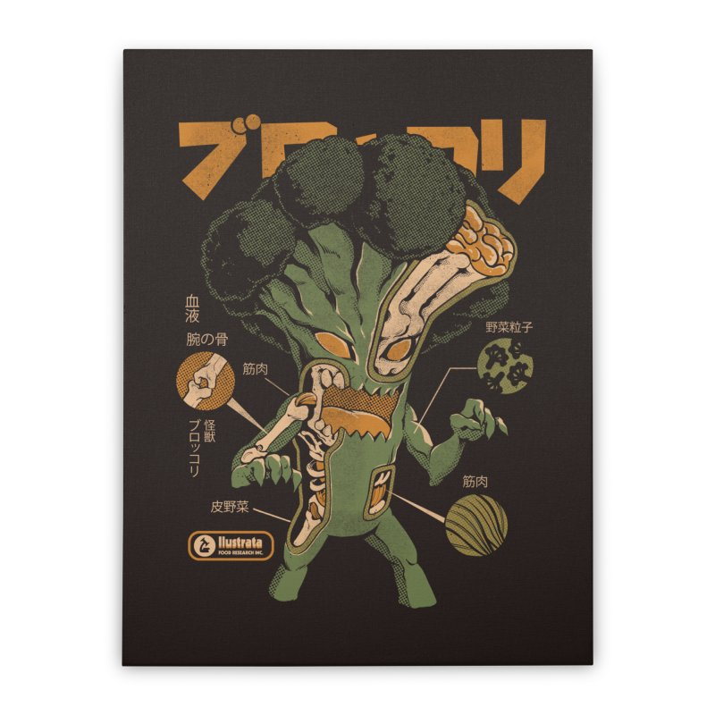 Broccozilla X-ray Home Stretched Canvas by ilustrata