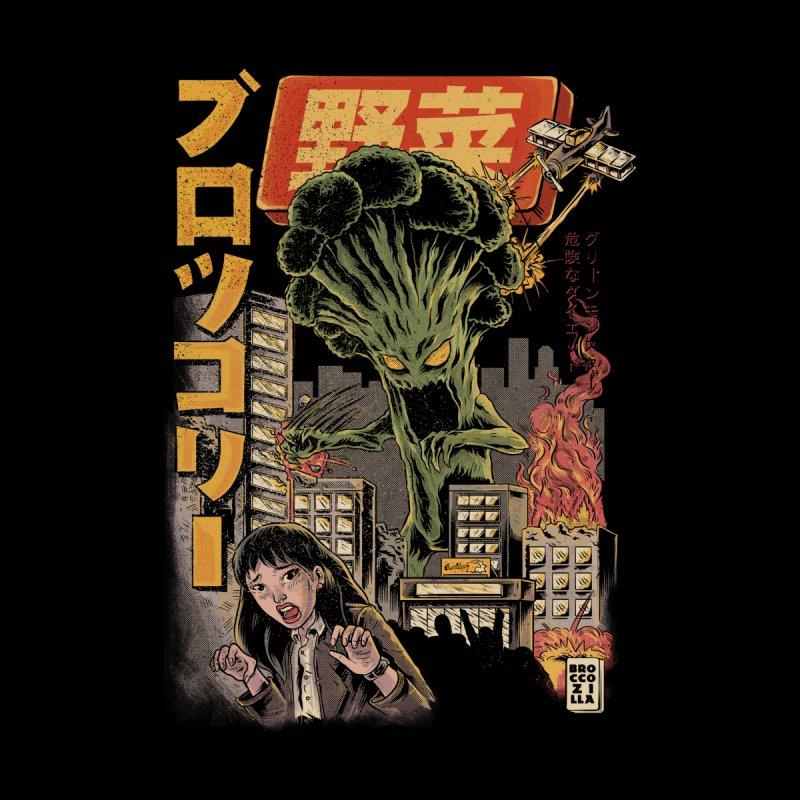 Broccozilla Black Version Men's T-Shirt by ilustrata