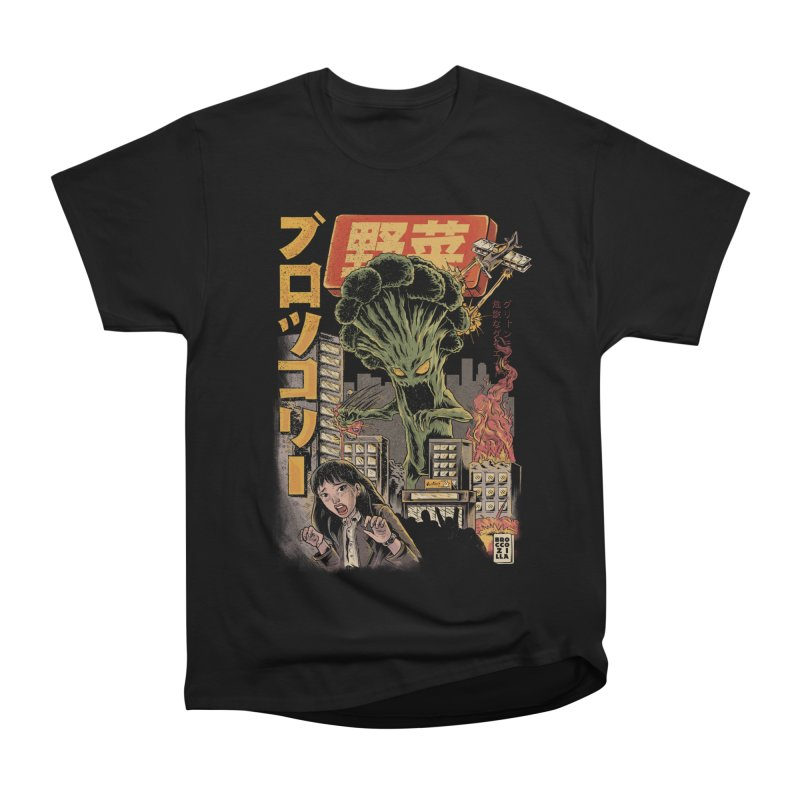 Broccozilla Black Version Women's T-Shirt by ilustrata