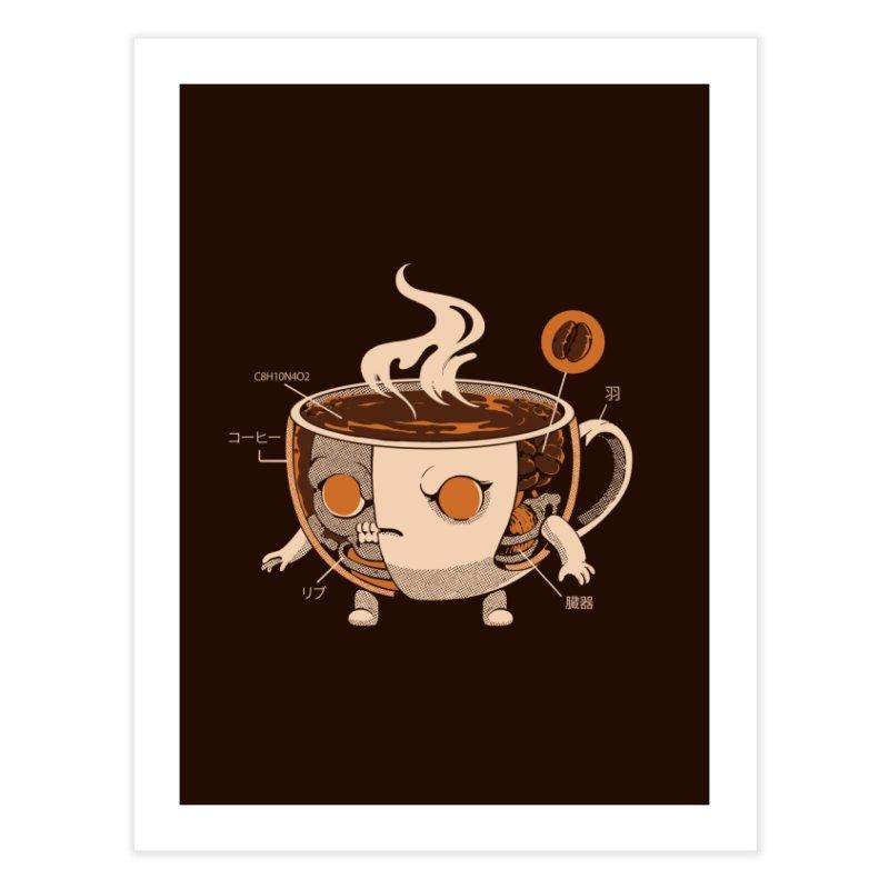Coffeezilla X-ray Home Fine Art Print by ilustrata
