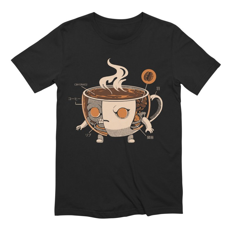 Coffeezilla X-ray Men's T-Shirt by ilustrata