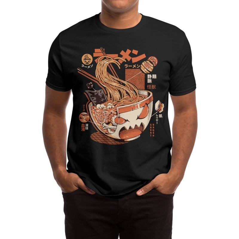 Black X-ray Great Ramen! Men's T-Shirt by ilustrata