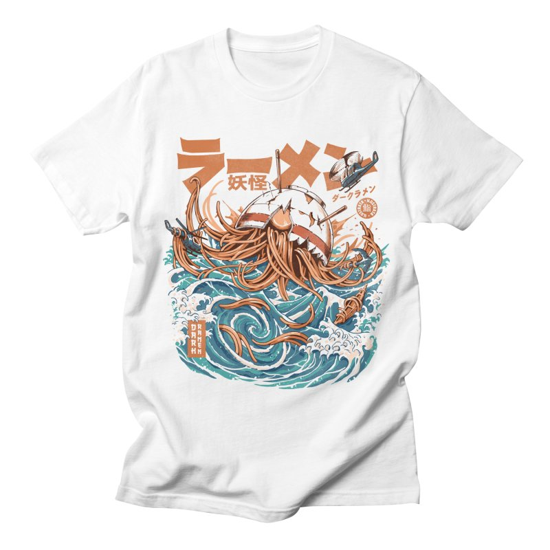 Dark Great Ramen off Kanagawa Men's T-Shirt by ilustrata