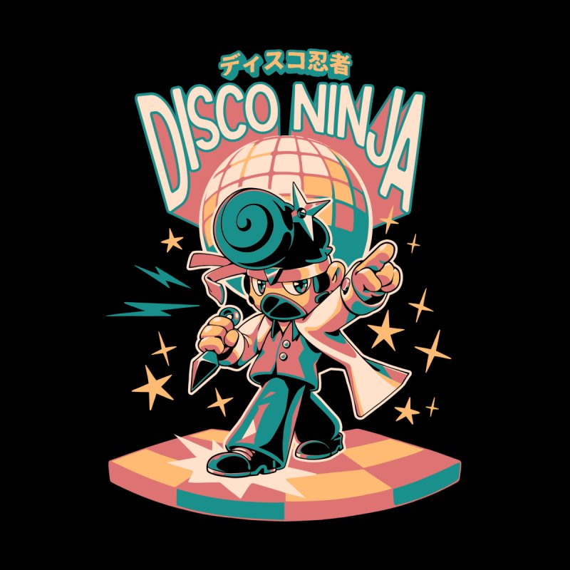 Disco Ninja Men's T-Shirt by ilustrata