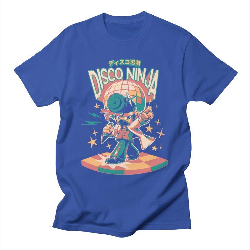 Disco Ninja Men's T-Shirt by ilustrata