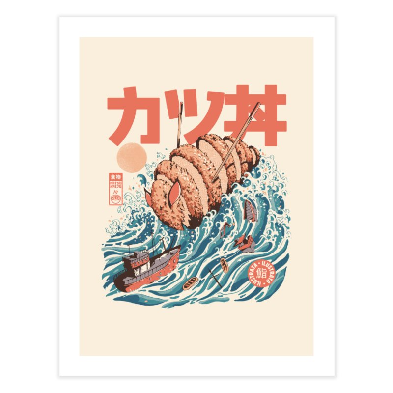 Katsuju Home Fine Art Print by ilustrata