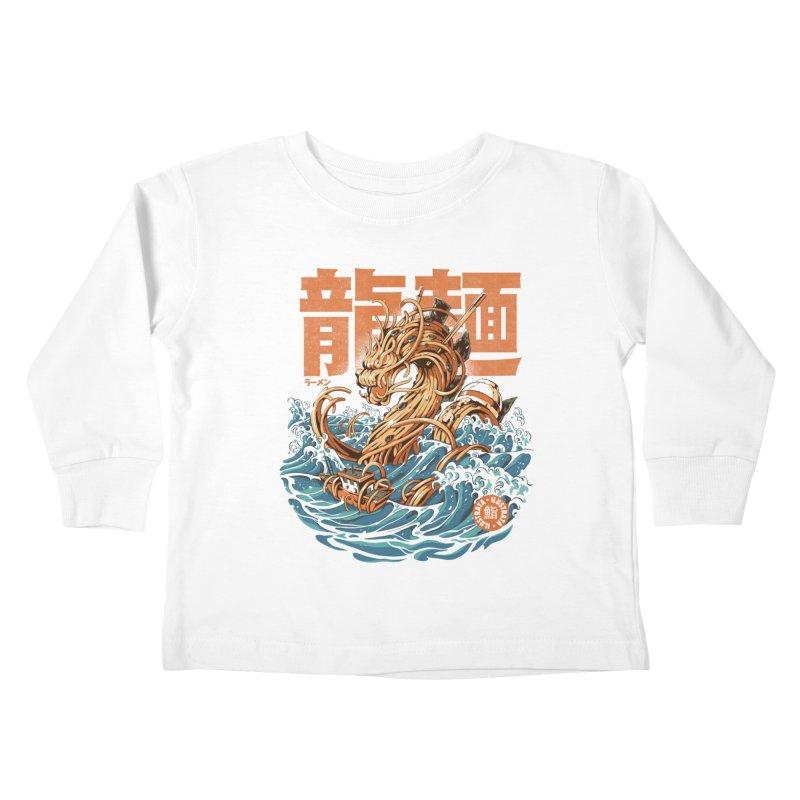 Great Ramen Dragon off Kanagawa Kids Toddler Longsleeve T-Shirt by ilustrata