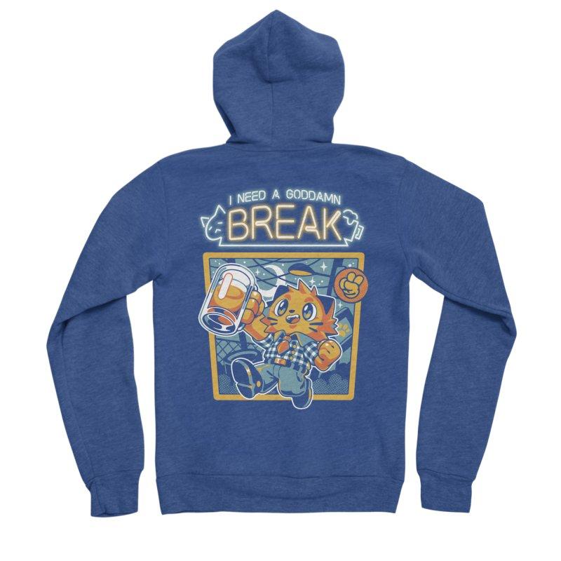 I Need a Break Men's Zip-Up Hoody by ilustrata