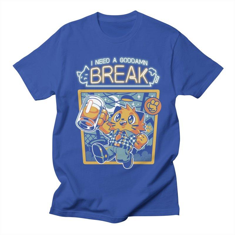 I Need a Break Men's T-Shirt by ilustrata