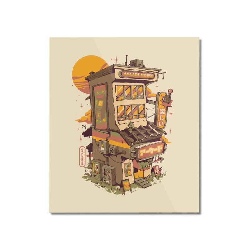 Arcade House Home Mounted Acrylic Print by ilustrata